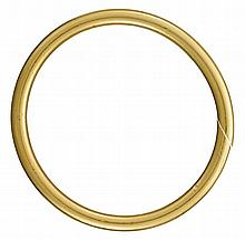 A twenty-two karat gold bangle, Cartier, , polished gold, signature obscured, numbered 9881.