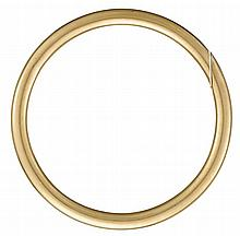 A fourteen karat gold bangle, , Polished gold.