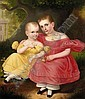 Robert Street (1796-1865), portrait of two sisters, Signed R. Street, 1836, oil on canvas, framed, lined., Robert Street, Click for value