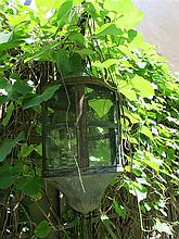 Copper and glass domed lantern, 19th century,