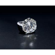An impressive diamond and platinum ring