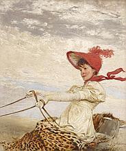 IGNAZ MARCEL GAUGENGIGL, (AMERICAN 1855-1932), BUGGY DRIVING