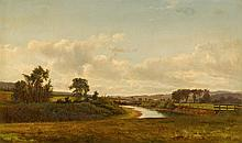 DAVID JOHNSON, (AMERICAN 1827-1908), LANCASTER NEW HAMPSHIRE FARMLAND