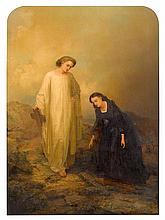 JOSEPH W. JOHNS, (AMERICAN C.1833-1877), JESUS AND MARY MAGDALENE