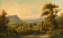 ALEXANDER HELWIG WYANT, (AMERICAN 1836-1892), BUCOLIC VALLEY