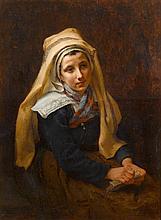 FREDERICK ARTHUR BRIDGMAN, (AMERICAN 1847-1928), YOUNG GIRL
