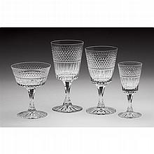 Collection of Royal Brierley crystal stemware, 20th century