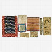 Collection of embroidered textile fragments, Continental and Indian, 18th-20th century