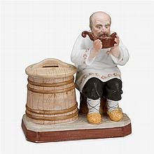 Russian hand-painted bisque porcelain figure, Gardner porcelain factory, late 19th/early 20th century
