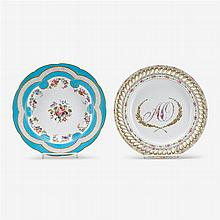 Two Continental porcelain dishes, late 18th century