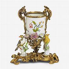 Louis XV style gilt bronze and Sampson porcelain potpourri vase, second half 19th century