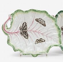 Worcester leaf form dish, circa 1758
