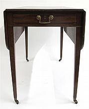 George III style mahogany pembroke table, late 19th century