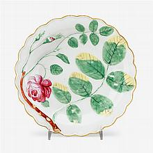 Worcester 'blind earl' dish, decorated in the workshop of James Giles, circa 1770