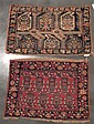 Two Afshar mats, south persia, circa 1890,