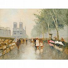 ANDRÉ GISSON, (AMERICAN, 1921-2003), NOTRE DAME
