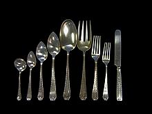Sterling silver flatware service for twelve, whiting mfg. co., providence, ri, retailed theodore b. starr, early 20th century,