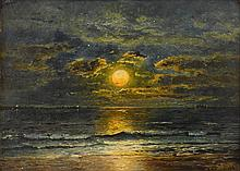EDMUND DARCH LEWIS, (AMERICAN 1835-1910), SUNSET OVER THE SEA