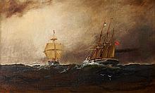 ALEXANDER CHARLES STUART, (AMERICAN 1831-1898), STORMY SEAS