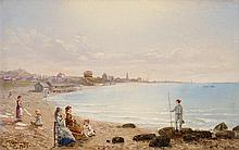 CONRAD WISE CHAPMAN, (AMERICAN 1842-1910), AT THE BEACH