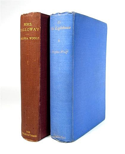 * 2 vols.  Woolf, Virginia: Mrs Dalloway. London: Hogarth Press, 1925. 1st ed. 8vo, orig. deep rust cloth, gilt-letter...