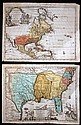 2 pieces. Hand-Colored Engraved Maps. Van der Aa, Pieter: La Floride. Leyden, [ca 1710-1730]. 9 x 12 in, 228 x 305 mm, narro...