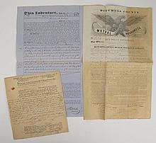 Lot. American Public Officials - Autograph & Manuscript Material: Primarily members of Congress, ca 1840s-1890s. Autograph...