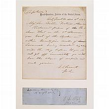1 piece. Grant, U[lysses] S. Autograph Letter Signed. City Point, VA, Dec 11, 1864. 1p, 4to; light to moderate creases alo...
