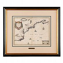 1 piece. Jansson, Jan. Engraved Map with Hand Coloring.