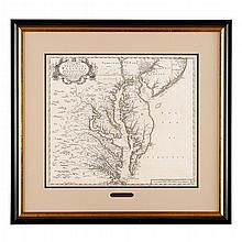 1 piece. Senex, John. Engraved Map with Hand-Coloring.