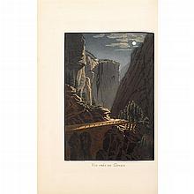 1 vol. Schoberl, Frederick. Voyage Pittoresque de Geneve a Milan. Paris, 1811. Folio, contemp 1/2 contemp red morocco &...