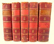 5 vols. Marshall, John. The Life of Washington. London: for Richard Phillips, 1804-1807. 1st English ed, 2nd ptg. 8vo,...