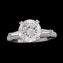 A diamond and platinum ring,