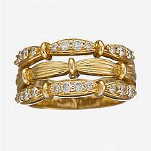 A diamond and eighteen karat gold band, Tiffany & Co.,