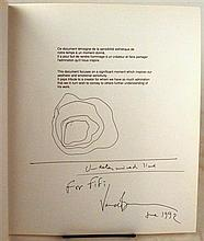 1 vol. Venet, Bernar. Dessins, Drawings. [Paris]: Galerie Daniel Templon, [1990].  4to, orig pictorial stiff wrappers...