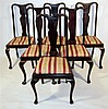 Matched set of twelve Queen Anne style mahogany dining chairs, late 19th century,