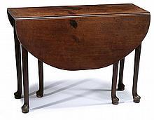 George III mahogany drop-leaf table, 18th century,