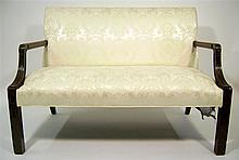 George III Chippendale style mahogany settee, 19th century,