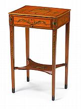 George III satinwood writing or work table, circa 1800,