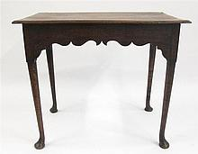 Queen Anne side table, early 18th century,