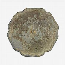A Chinese bronze hexagonal mirror, song dynasty
