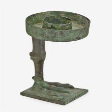 A rare Chinese archaic bronze ritual lamp, Yanzu Deng, western han dynasty