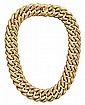 18 karat yellow gold necklace, Nicolis Cola, , Large double curb link, displaying maker's mark and hallmarks for Vicenza, Italy.
