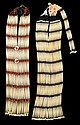 Two Sioux women's ceremonial hair pipe bone and bead breast plates, fort yates, north dakota, mid 20th century, The first, with seven