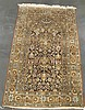 Silk Qum prayer rug, circa mid 20th century,