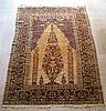 Silk Hereke prayer rug, west anatolia, circa mid 20th century,