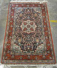 Chinese silk rug, circa 2nd half 20th century,