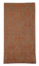 Ten pieces assorted textile panels and fragments, 18th-20th century, Comprising an orange on grey silk embroidered floral panel, a flor