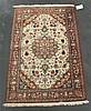 Silk Qum rug, central persia, circa 2nd half 20th century,