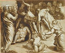 FOLLOWER OF JACOPO ROBUSTI TINTORETTO, (ITALIAN 1519-1594), THE RAISING OF LAZARUS